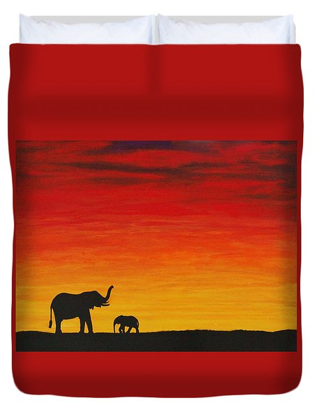 Mother Africa 1 Duvet Cover by Michael Cross