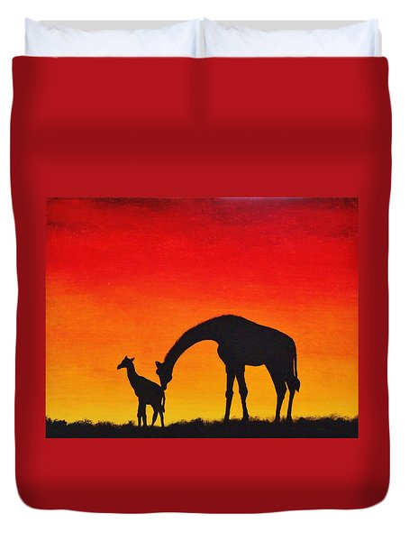 Mother Africa 2 Duvet Cover by Michael Cross