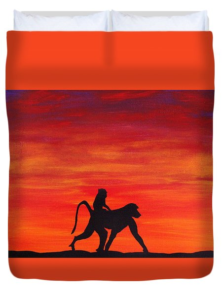 Mother Africa 4 Duvet Cover by Michael Cross