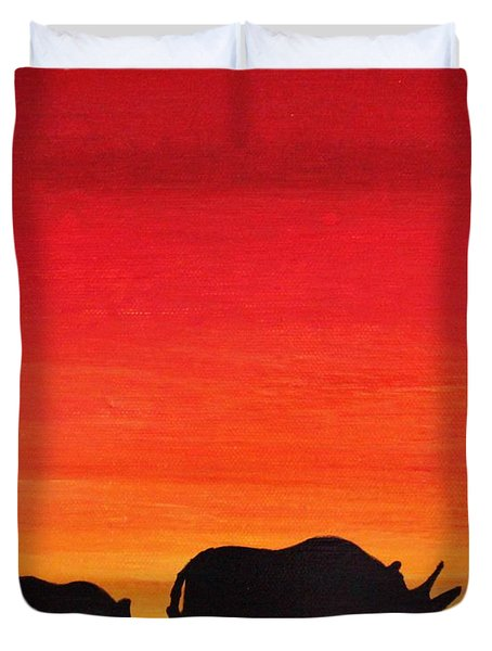 Mother Africa 5 Duvet Cover by Michael Cross