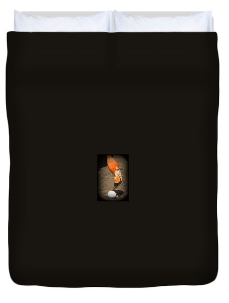 Duvet Cover featuring the photograph Mother And Child by Beth Vincent