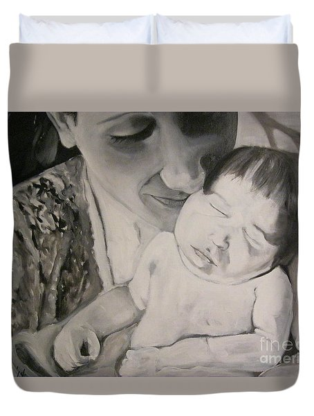 Mother And Child Duvet Cover by Carrie Maurer