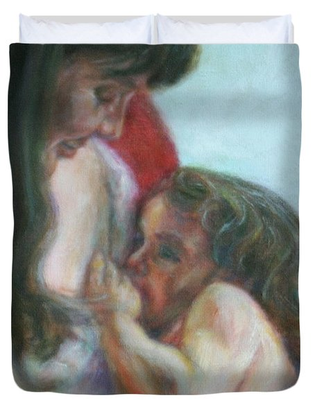 Mother And Child - Detail Duvet Cover