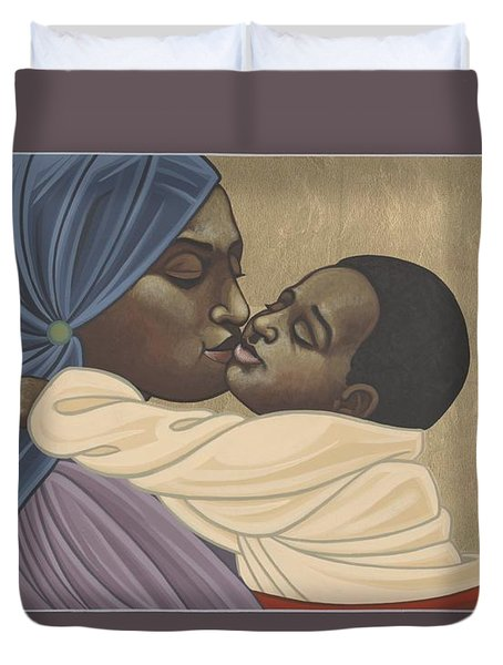 Mother And Child Of Kibeho 211 Duvet Cover