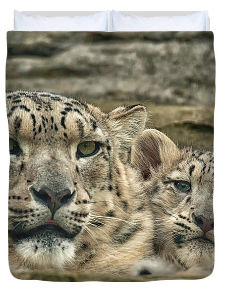 Mother And Cub Duvet Cover