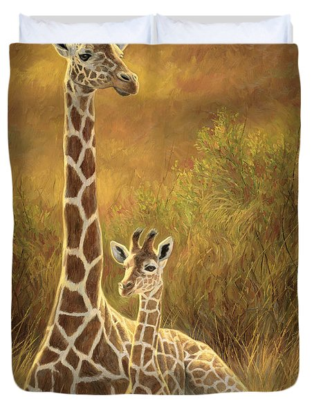 Mother And Son Duvet Cover