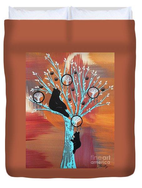 Mother Bear's Tree Of Life Duvet Cover