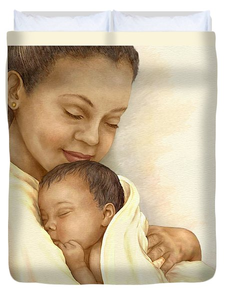 Mother Duvet Cover by Beverly Levi-Parker