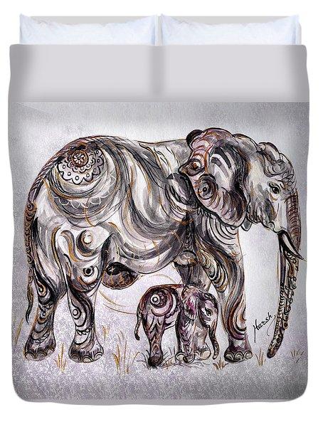 Mother Elephant Duvet Cover