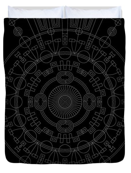 Mother Inverse Duvet Cover by DB Artist