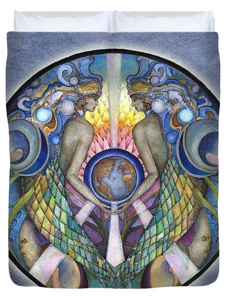 Mother Ocean Mandala Duvet Cover