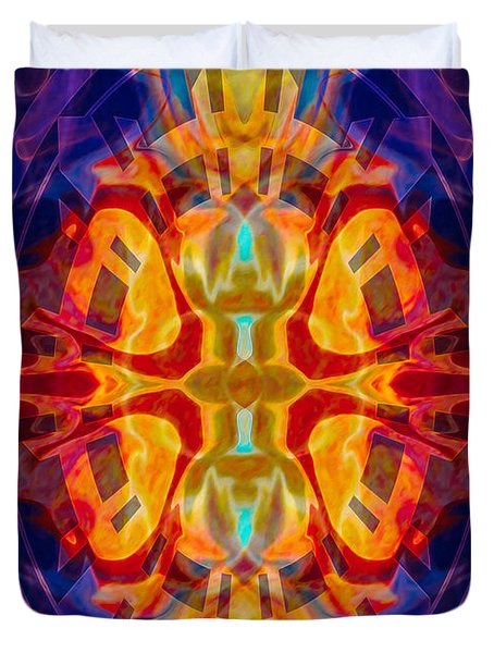 Mother Of Eternity Abstract Living Artwork Duvet Cover