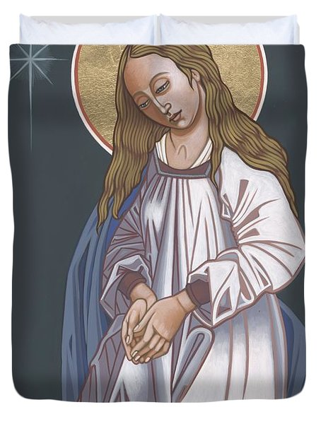 Mother Of God Waiting In Adoration 248 Duvet Cover
