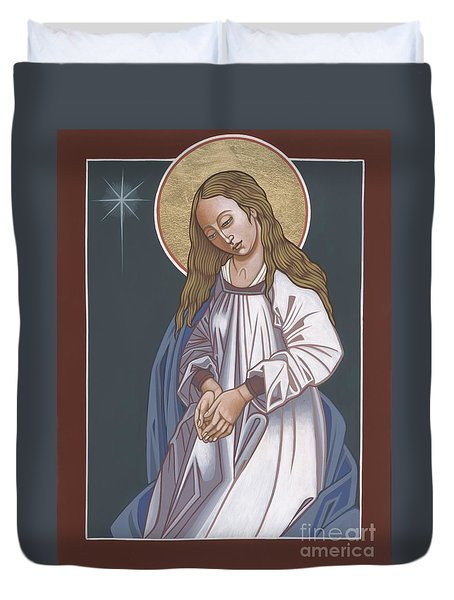 Mother Of God Waiting In Adoration 248 Duvet Cover