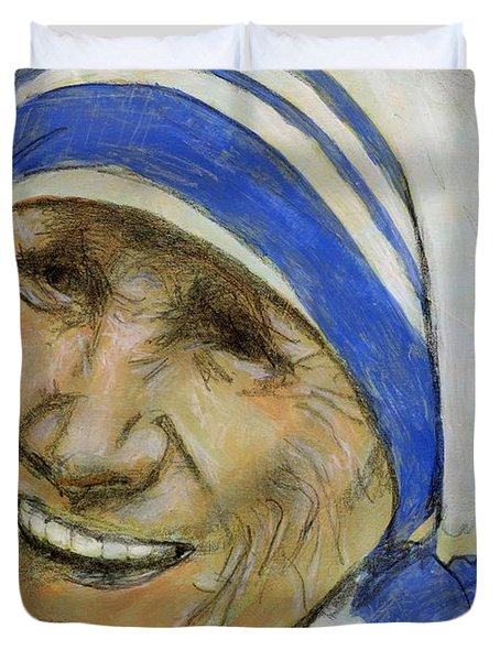 Mother Teresa Duvet Cover by P J Lewis