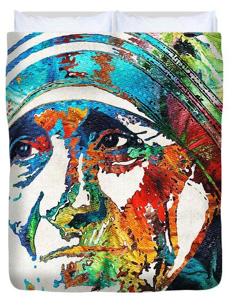 Mother Teresa Tribute By Sharon Cummings Duvet Cover