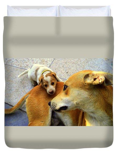 Mother's Affection Duvet Cover