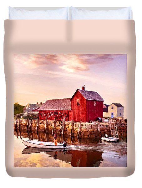 Motif Number One Rockport Massachusetts  Duvet Cover