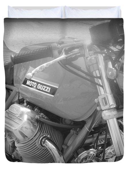 Moto Guzzi I Duvet Cover by Kelly Hazel