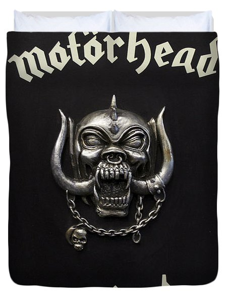 Motorhead England Duvet Cover by Jerry Cordeiro