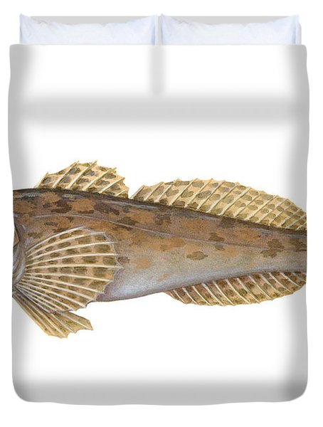 Mottled Sculpin Duvet Cover
