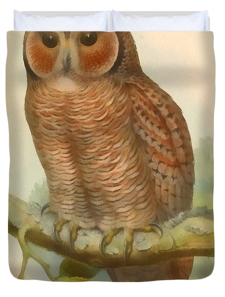 Mottled Wood Owl Duvet Cover