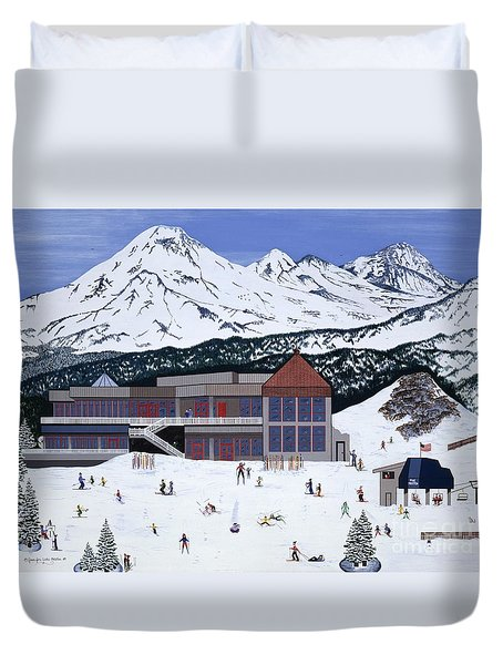 Mount Bachelor Duvet Cover