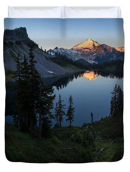 Mount Baker Chain Lakes Awakening Duvet Cover