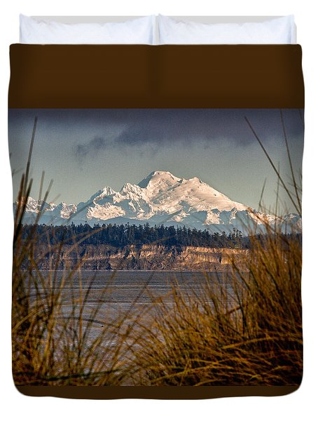 Mount Baker From Port Townsend Duvet Cover