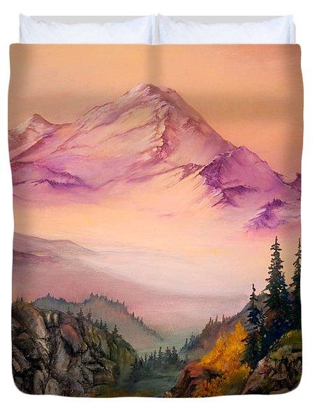 Mount Baker Morning Duvet Cover