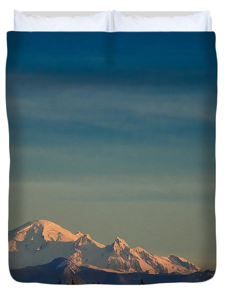 Mount Baker Sunset Duvet Cover