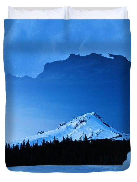 Mount Hood Blues Duvet Cover