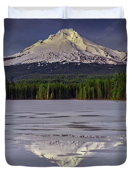 Mount Hood Reflections Duvet Cover
