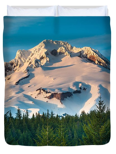 Mount Hood Winter Duvet Cover
