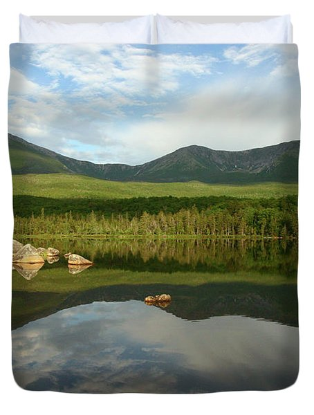 Duvet Cover featuring the photograph Mount Katahdin by Jeannette Hunt