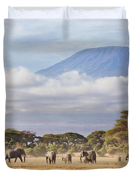 Mount Kilimanjaro Amboseli  Duvet Cover