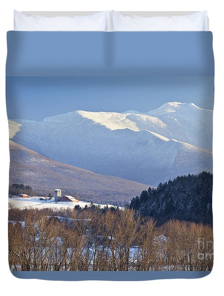 Mount Mansfield Winter Duvet Cover by Alan L Graham