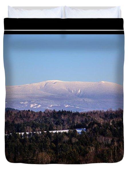 Mount Moosilauke Snowy Blanket Duvet Cover