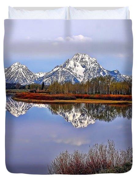 Mount Moran And Jackson Lake Duvet Cover