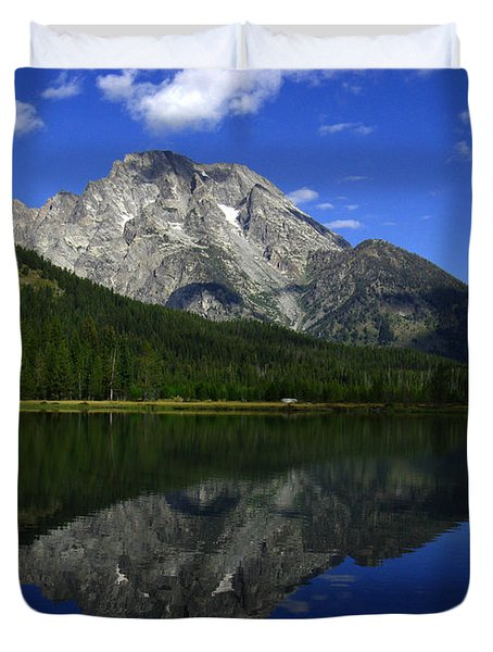 Mount Moran And String Lake Duvet Cover