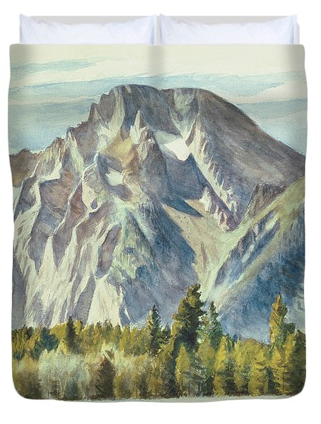 Mount Moran Duvet Cover by Edward Hopper