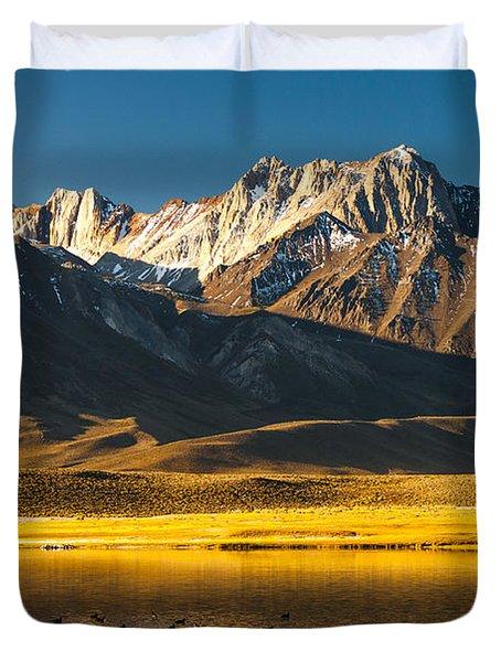 Mount Morrison At Sunrise Duvet Cover