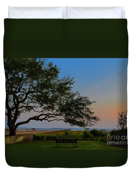 Mount Pleasant Sunset Duvet Cover