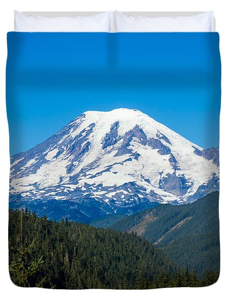 Mount Rainier Duvet Cover