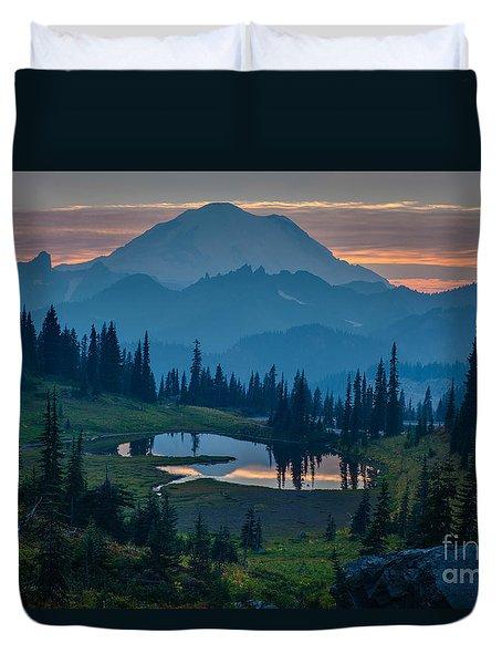 Mount Rainier Layers Duvet Cover