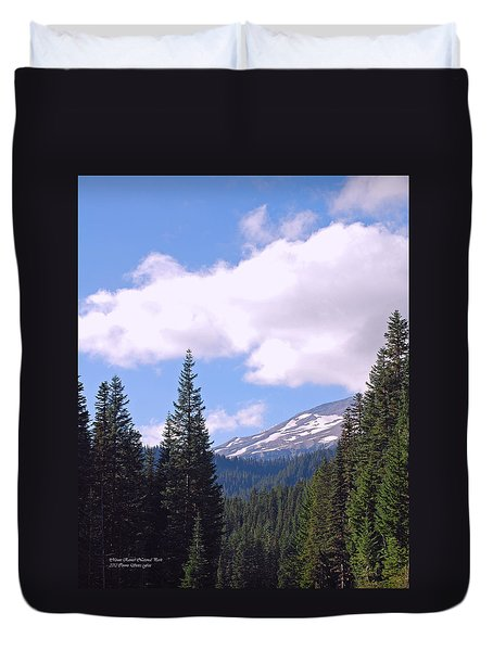 Mount Rainier National Park Duvet Cover
