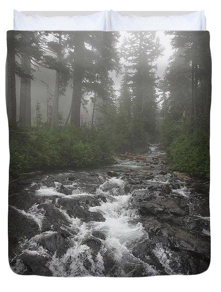 Mount Rainier National Park Duvet Cover