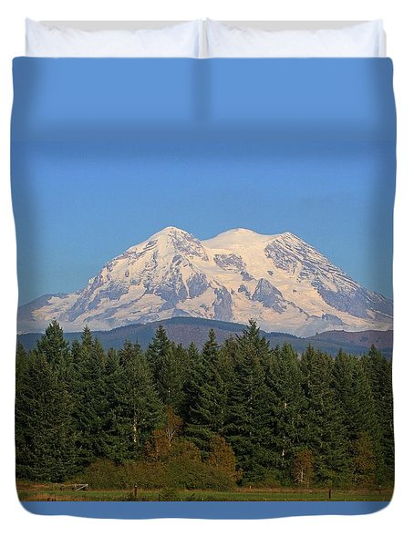 Mount Rainier Washington Duvet Cover by Tom Janca