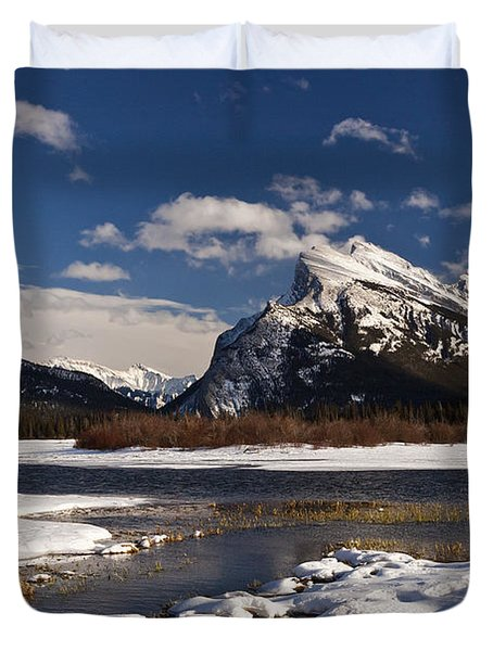 Mount Rundle Duvet Cover by Dee Cresswell
