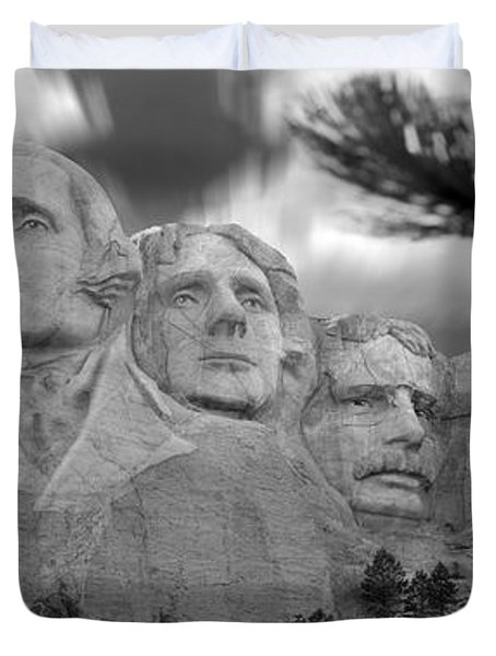 Mount Rushmore Panoramic Duvet Cover by Mike McGlothlen